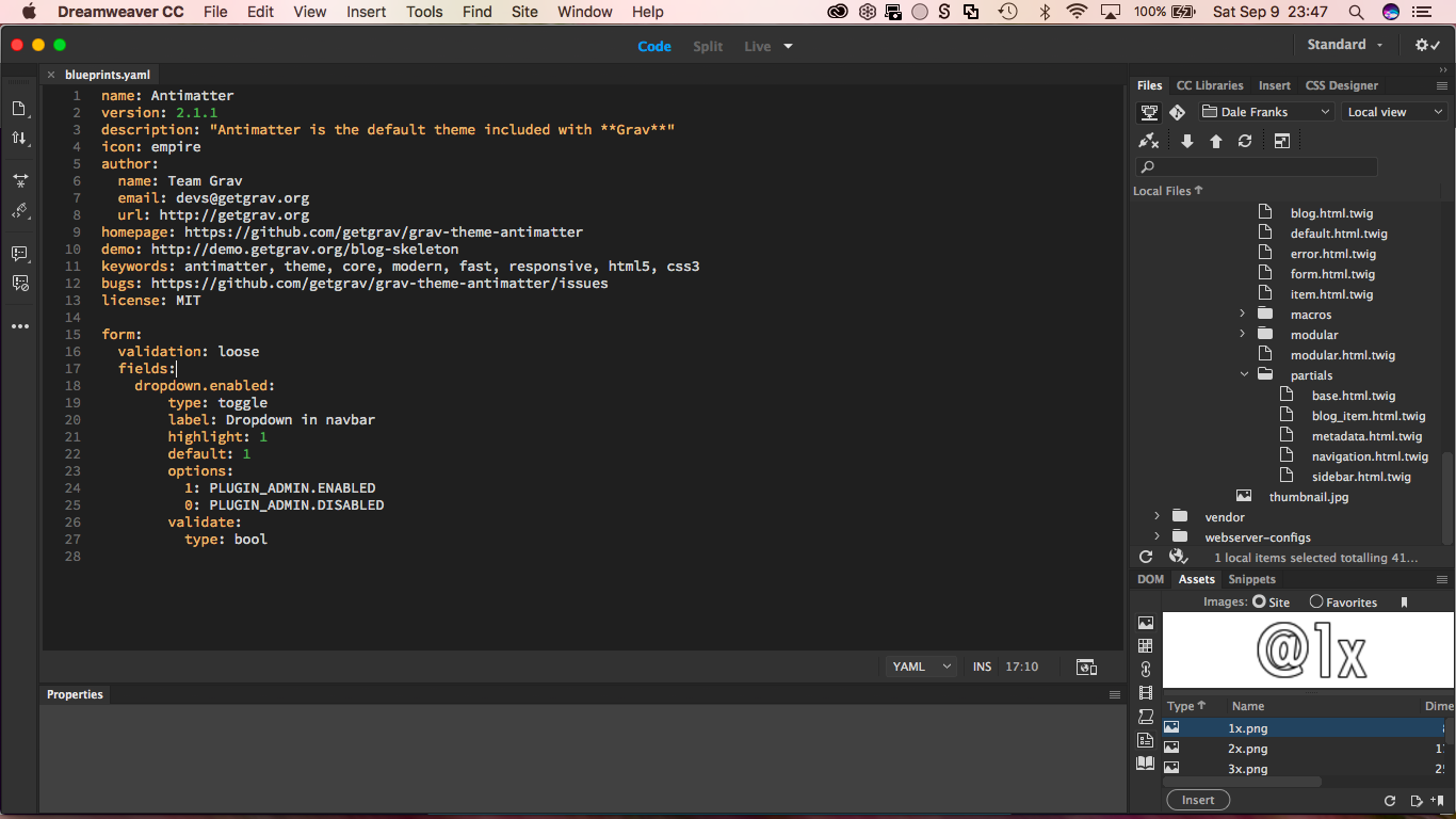 YAML Screenshot